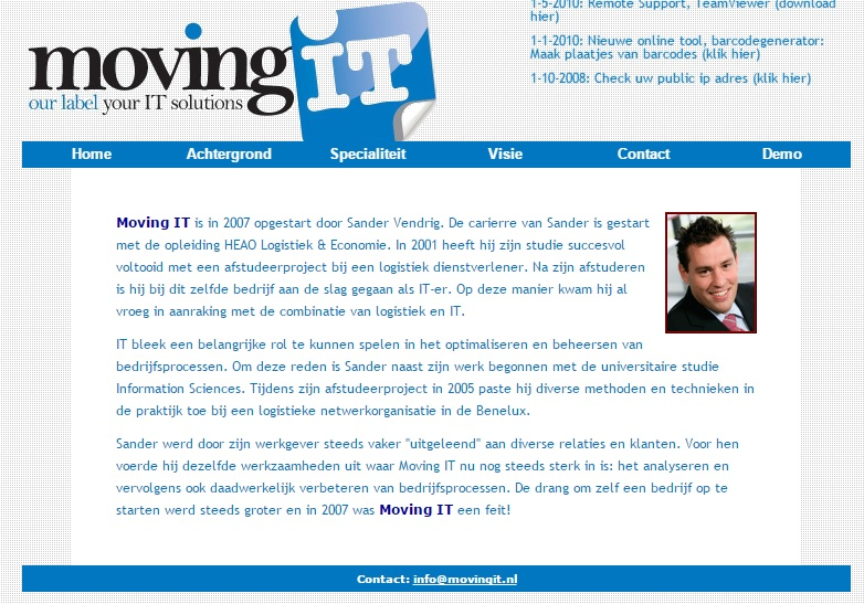 Oude website Moving IT